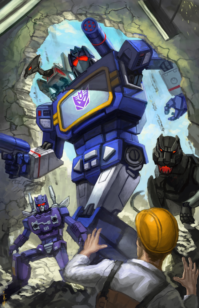 Drawing G1 Transformers Optimus Prime and Megatron