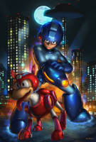MEGAMAN/RUSH by jeffszhang