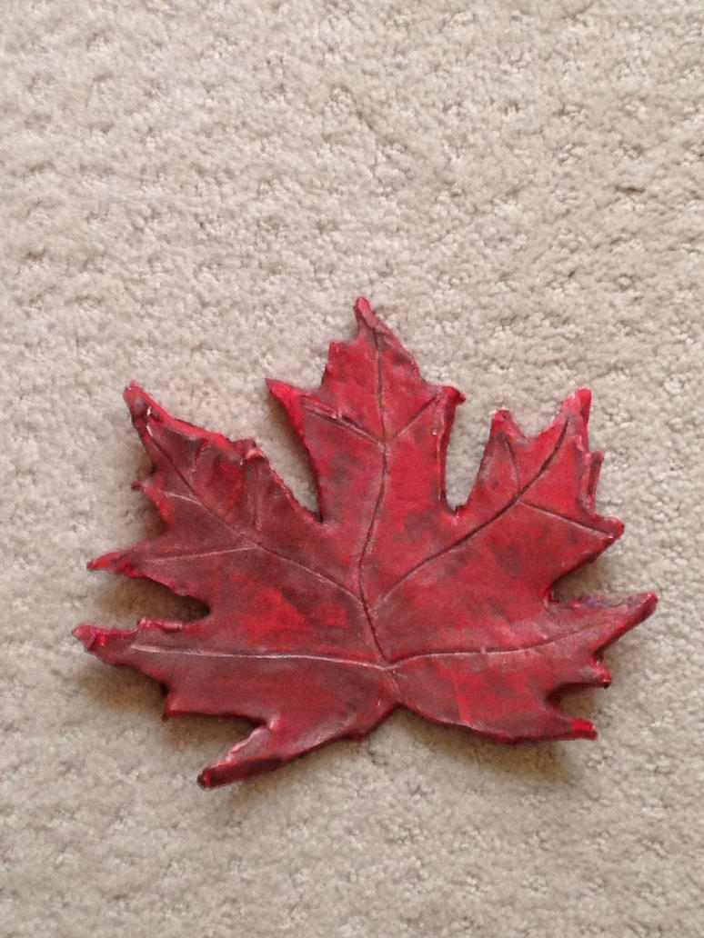 Random Clay Maple Leaf by Forestfire2