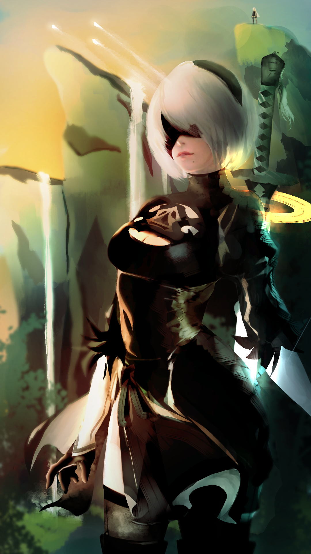 Nier Automata Phone Wallpaper By Panzermanzer On Deviantart