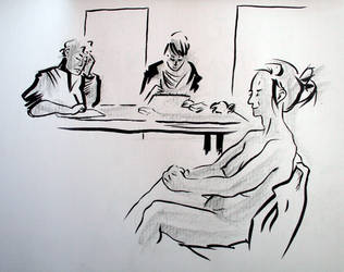 Team life drawing by voici