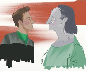 Garak and Bashir by voici