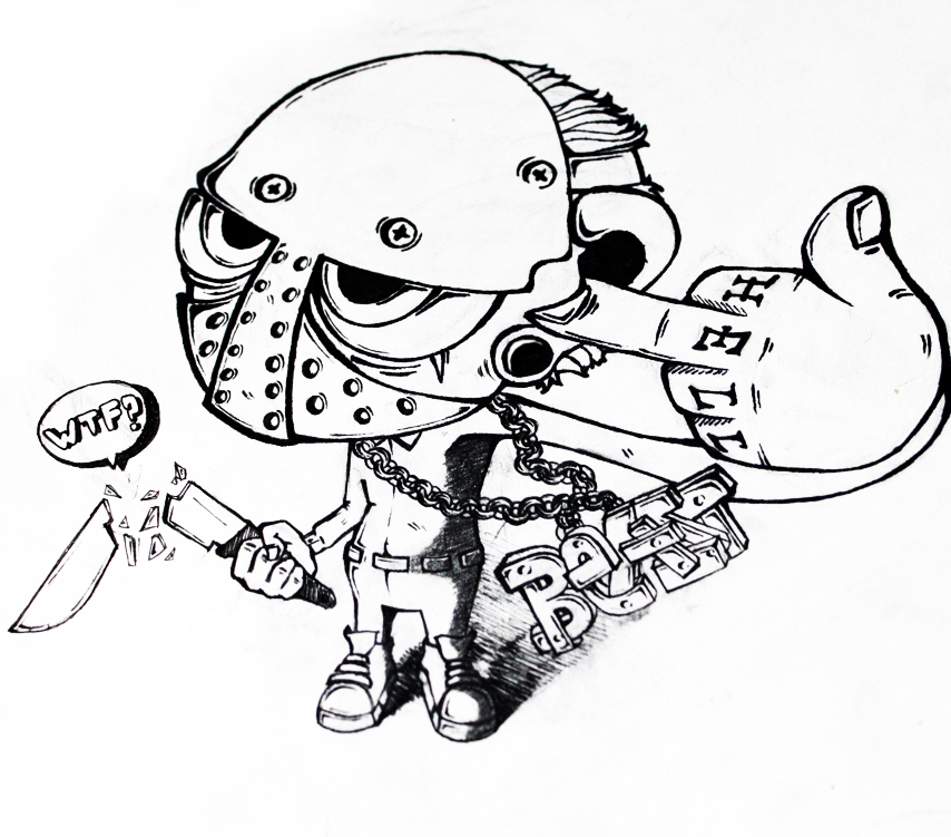 Jason Mask Coloring Pages