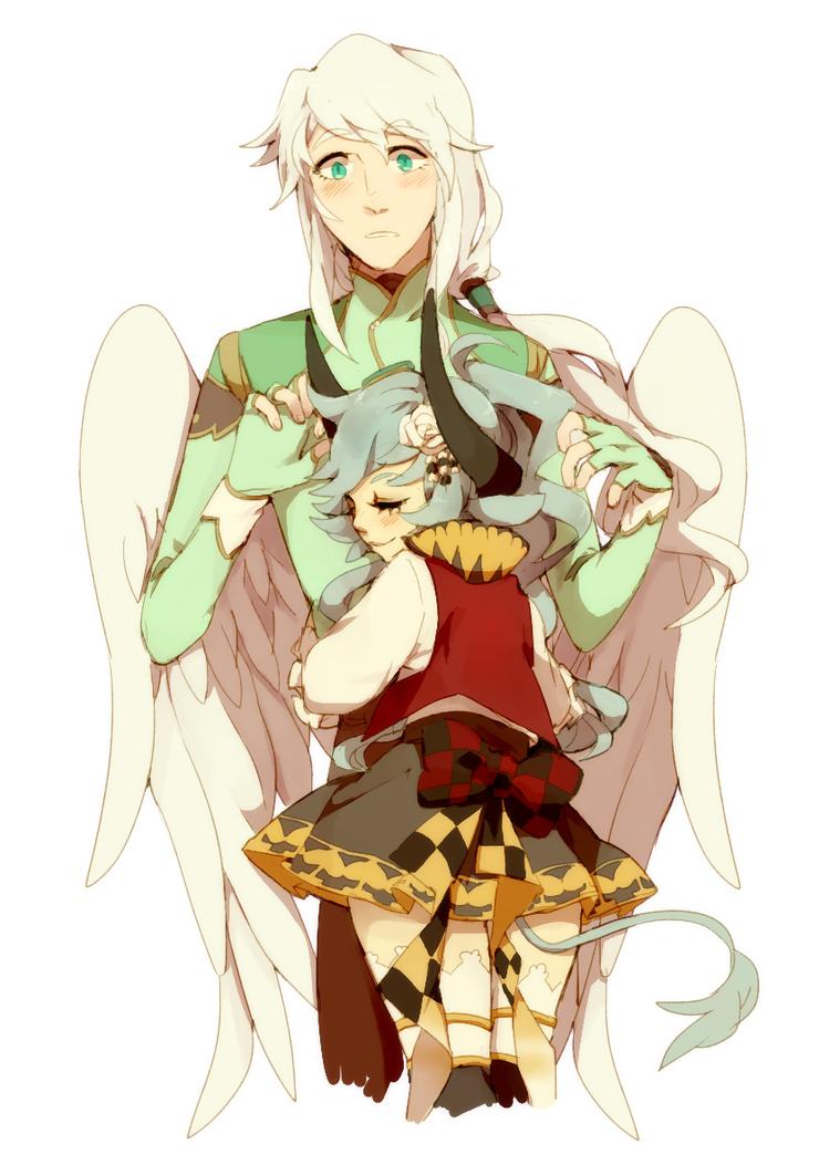 Nasu And Mimu by noizi
