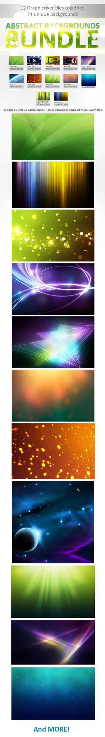 Abstract Backgrounds Bundle by M3-f-web