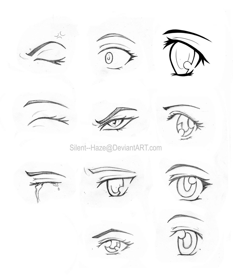 manga eye coloring pages - photo#5