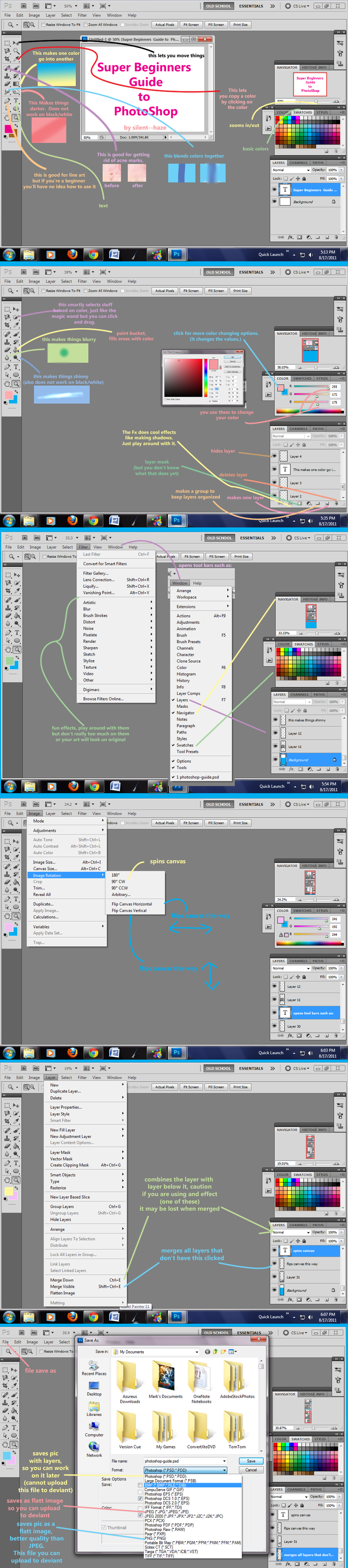Beginners Guide to Photoshop by Silent--Haze