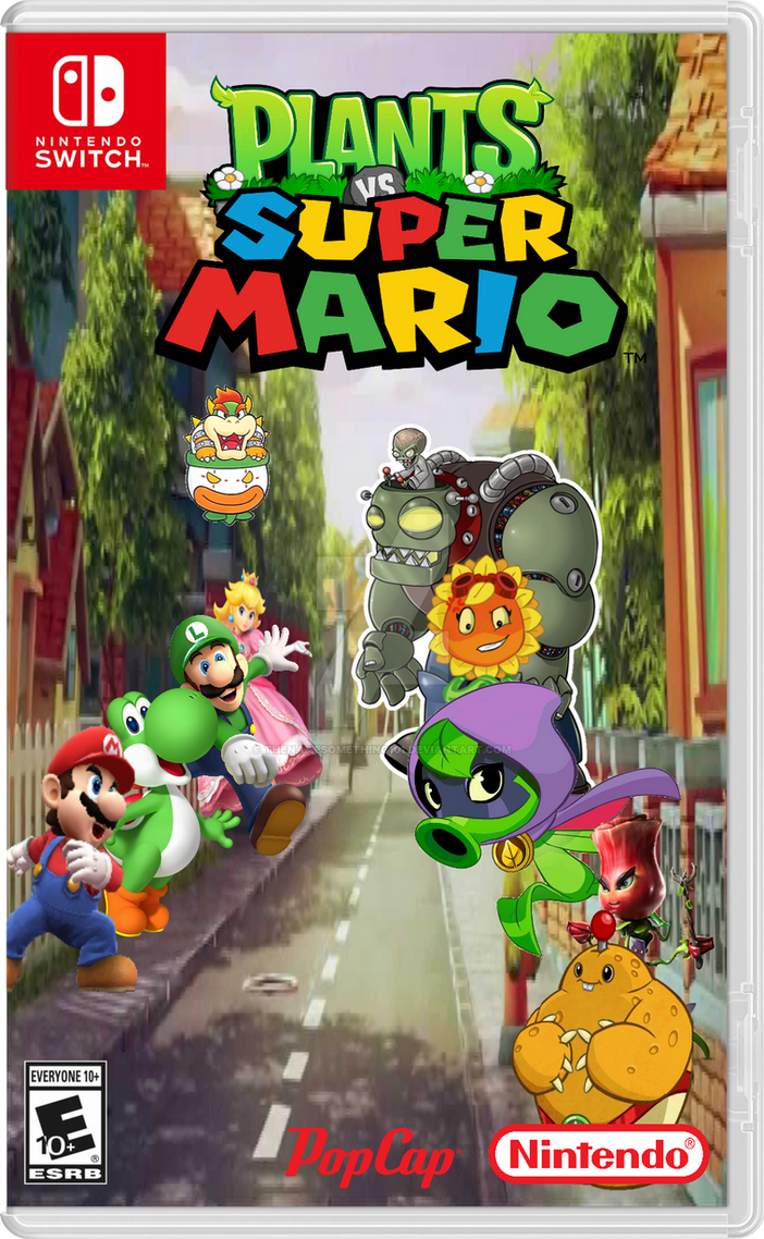 plants and zombies vs super mario and bad guy by
