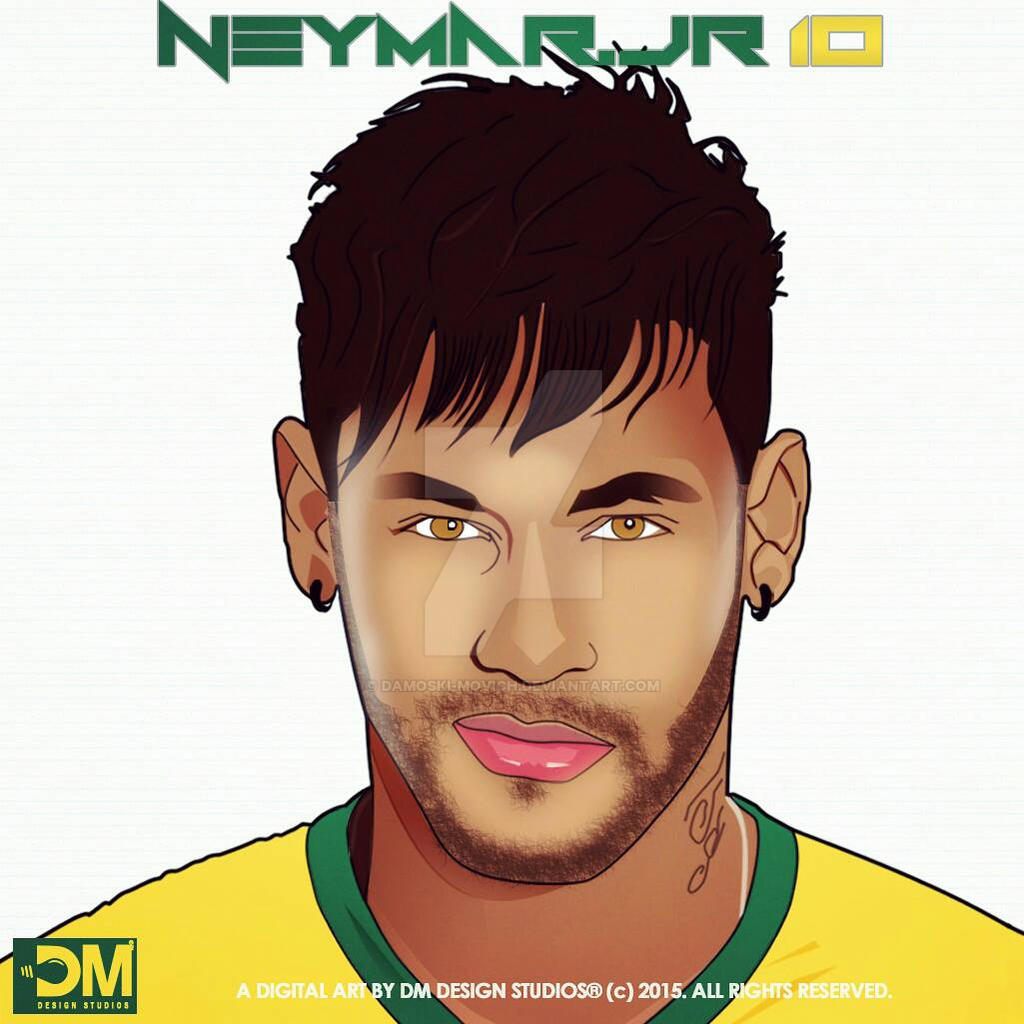 Neymar jr cartoon drawing