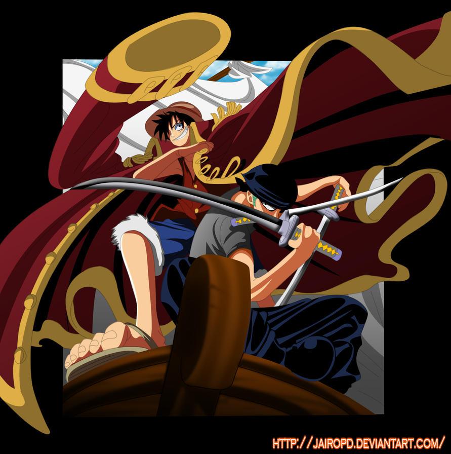 Luffy y Zoro by JAIROP...