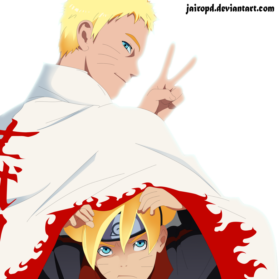 Naruto Y Boruto ( father and son) by JAIROPD
