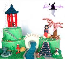 Mulan Cake by sweetdisposition14