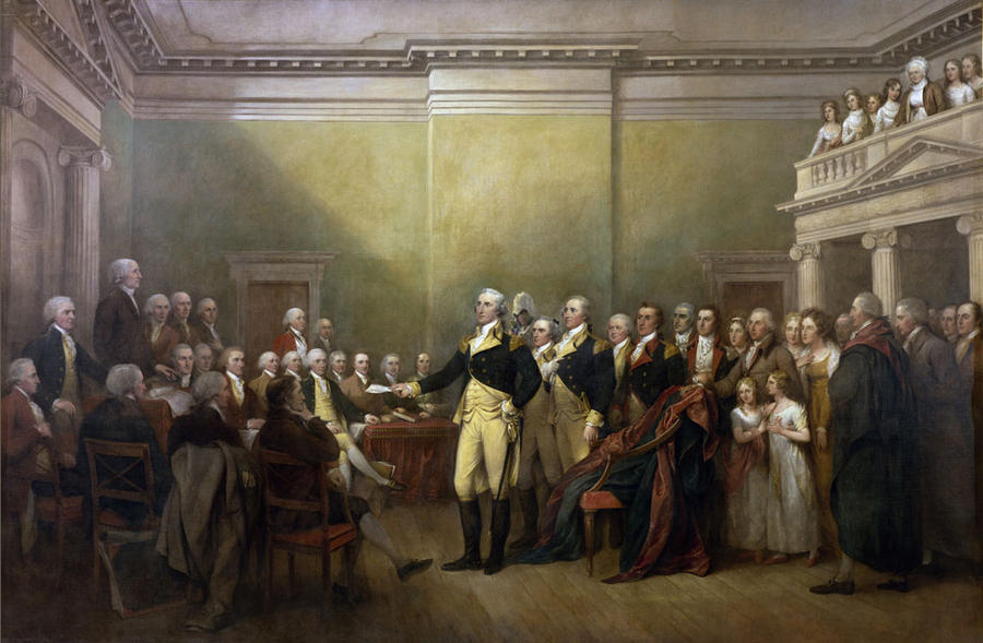 George Washington resigning commission by w1haaa