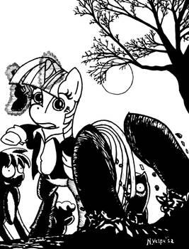 L'alba dei Pony Zombie - B/N