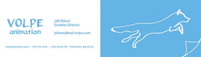 Volpe animation business card by j00f on deviantart volpe animation business card by j00f colourmoves