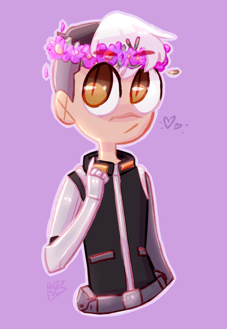 Space Dad w/ a Flower Crown by dessyxwessy