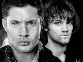 Dean and Sam Winchester by ConnieUitsu