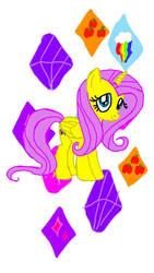 fluttershy  diamonds by AlicornnXD