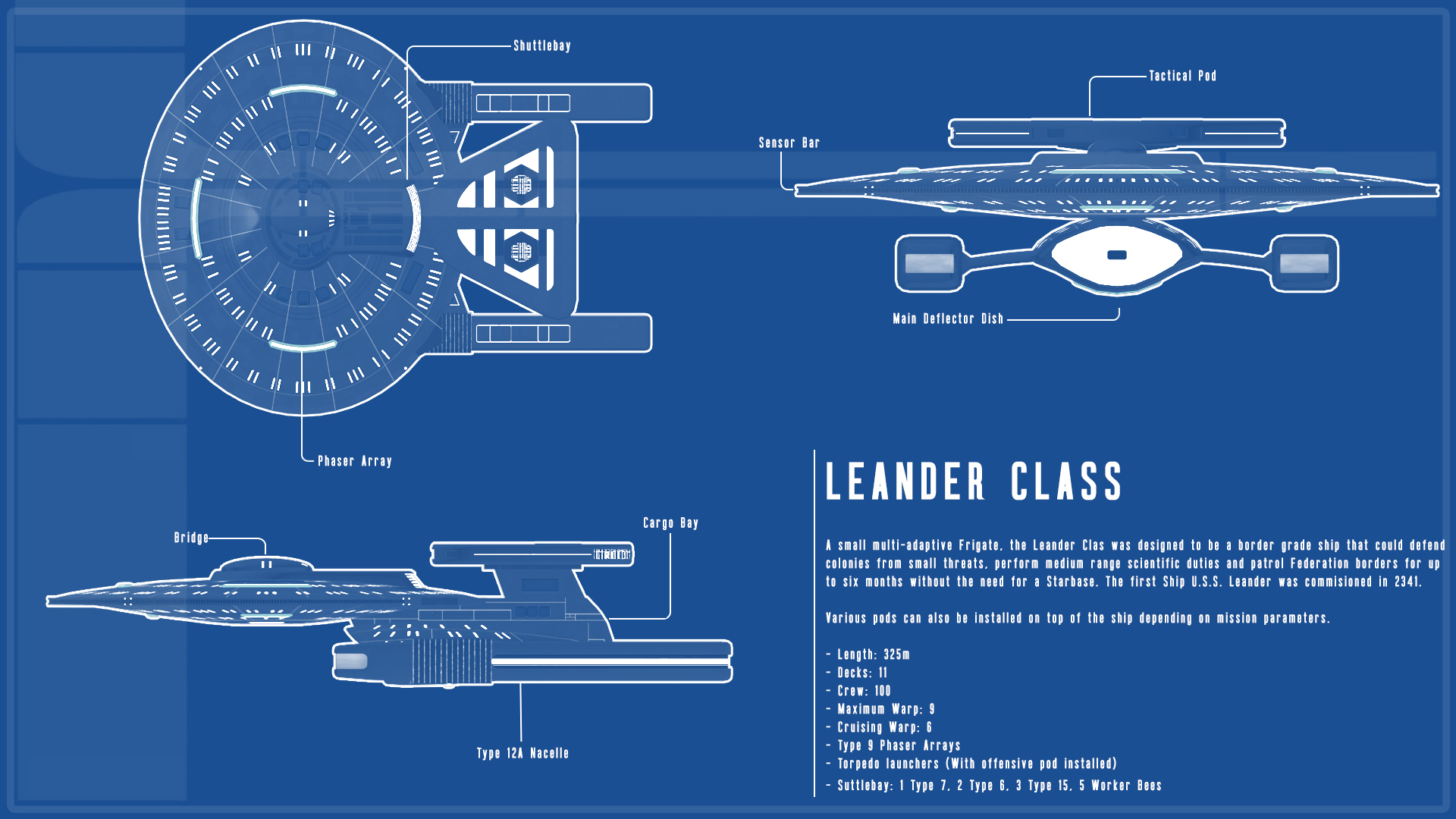Leander Class by KillaBC