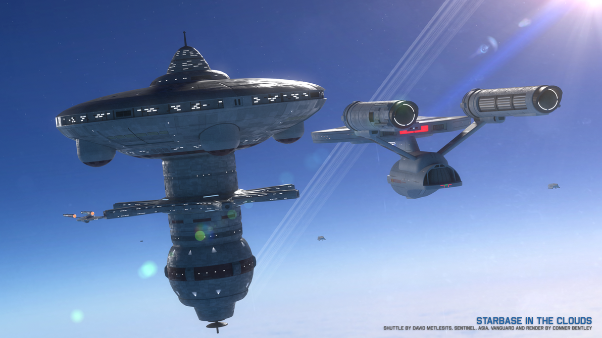 Starbase in the Clouds by KillaBC