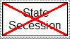 Anti-state secession stamp