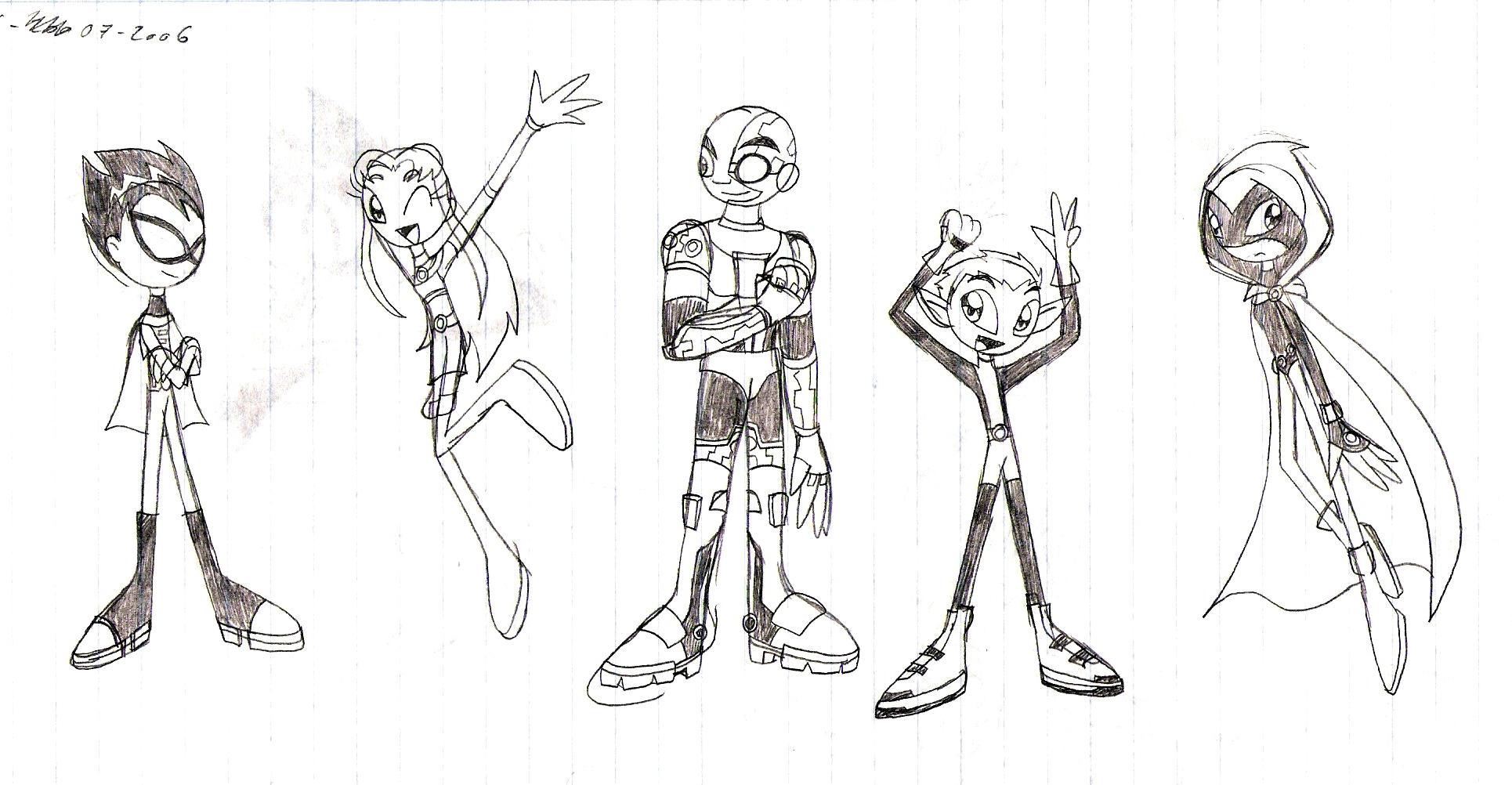 teen titans go sketch by lyravulpictor on deviantart