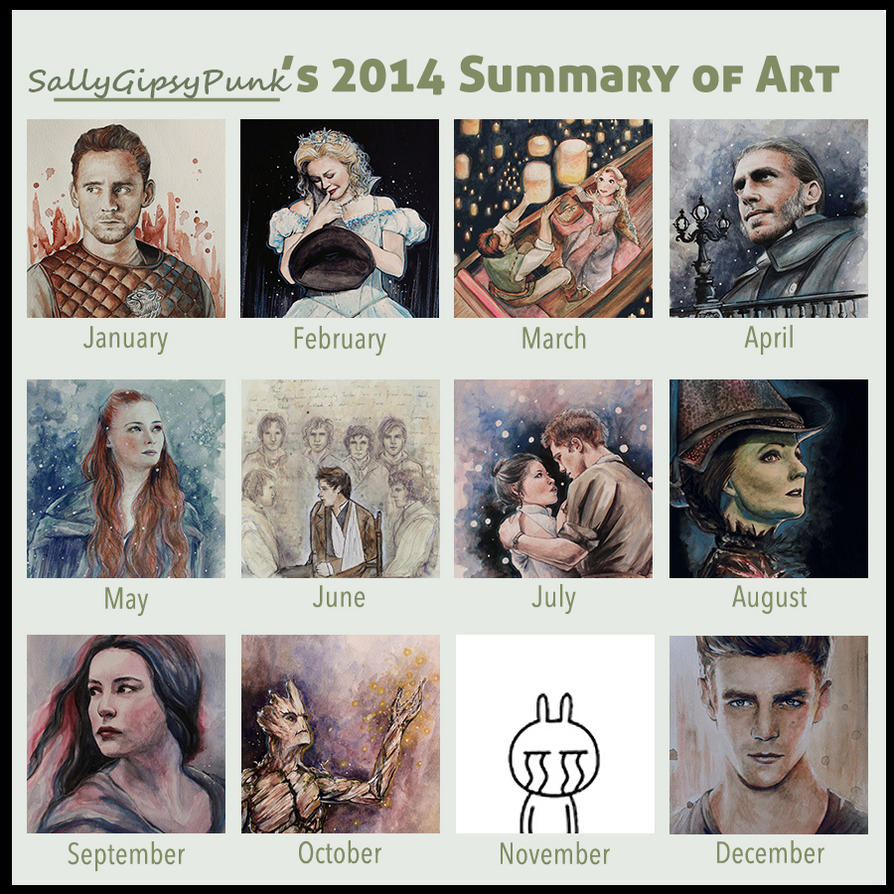Summary of Art 2014 by SallyGipsyPunk