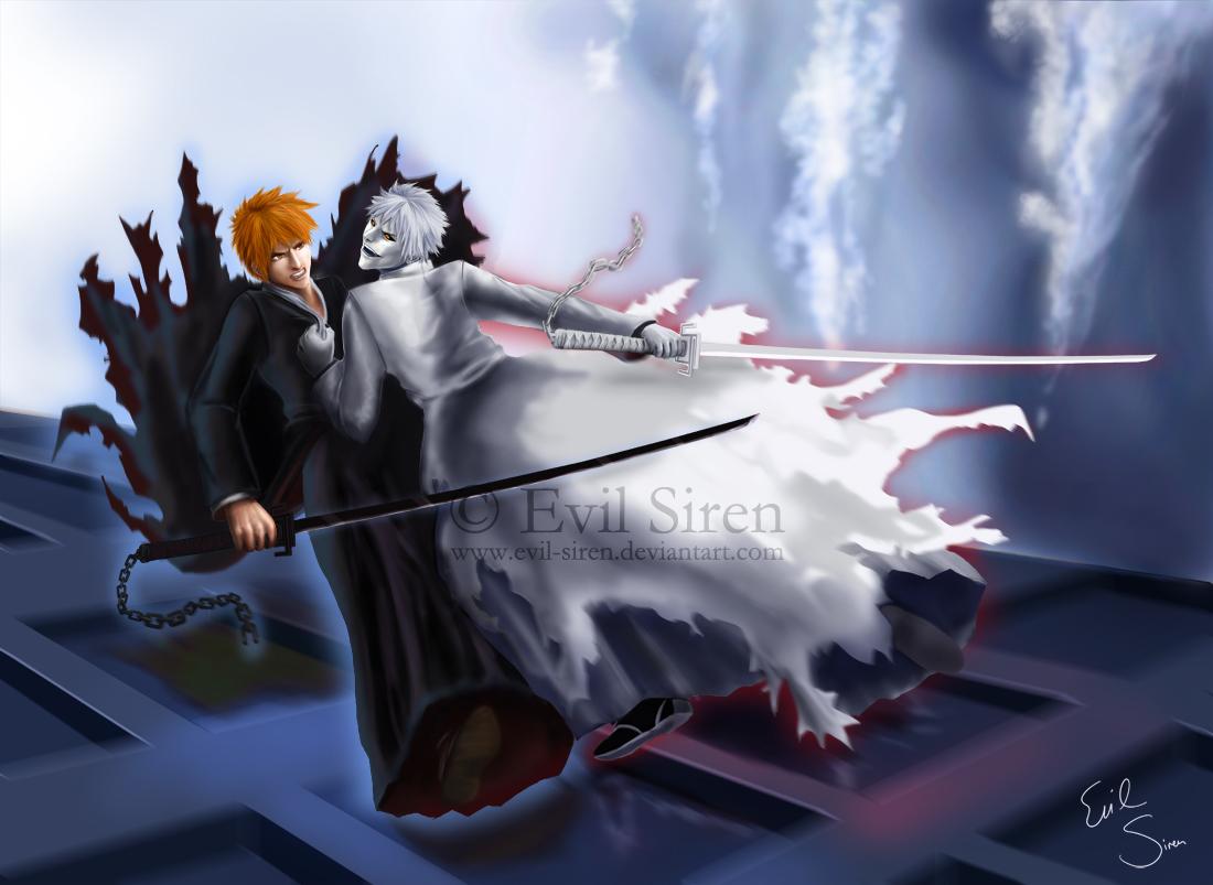 Ichigo VS Hichigo by Evil-Siren