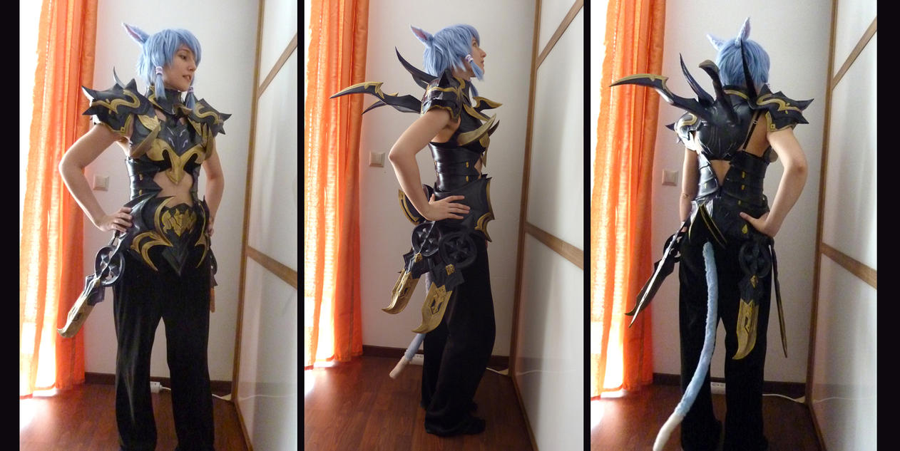 FFXIV Dragoon AF Cosplay WIP preview by Evil-Siren