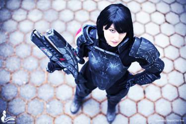 Commander Shepard Cosplay photo by greencat by Evil-Siren