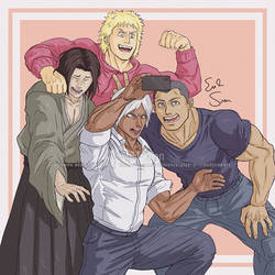 4 Idiot Gang - Kengan Ashura - Evil-Siren