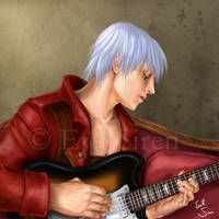Dante and his Guitar by Evil-Siren