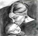 Lady with a baby 2