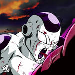 Frieza gut punched (speeddrawing) by Blade3006