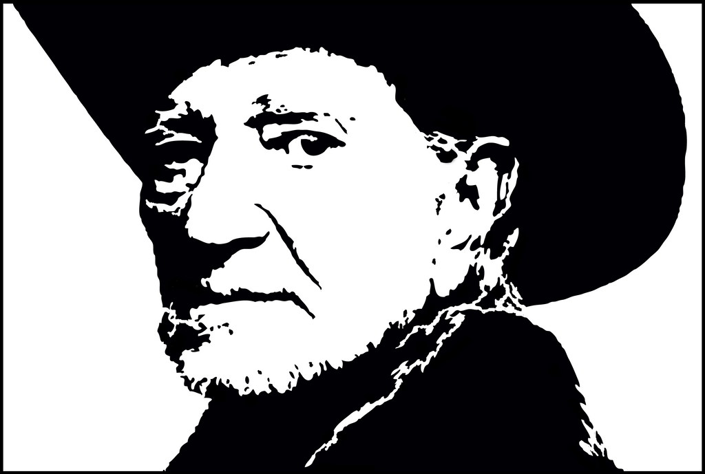 Willie Nelson Silhouette Pattern By HTYMSITI On DeviantArt Fascinating Silhouette Patterns Youtube