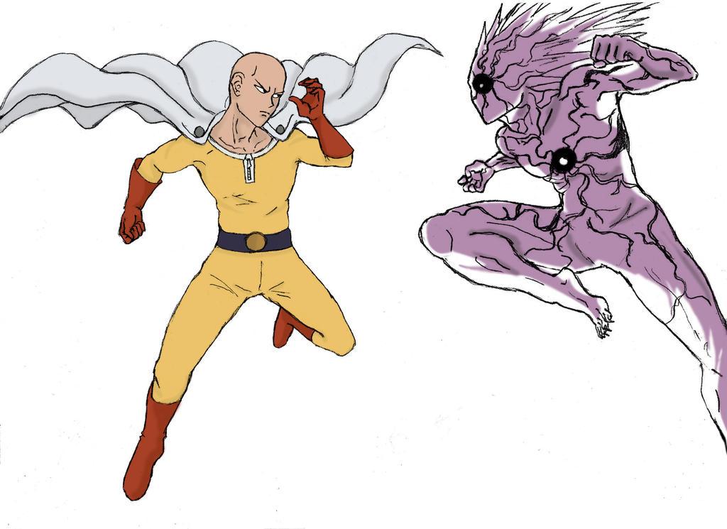 One Punch Man - Serious Saitama VS Lord Boros by Katong999 on DeviantArt
