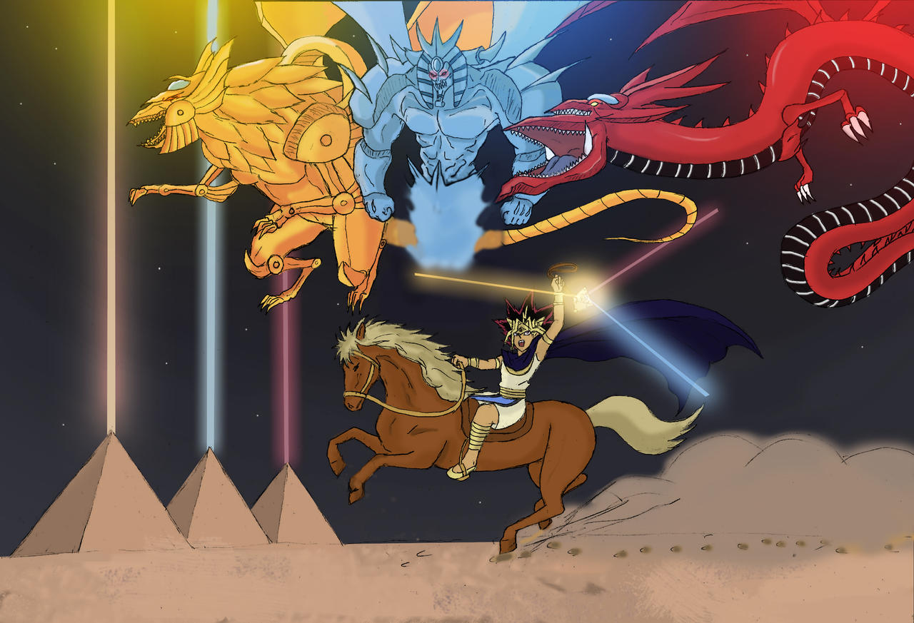 yu gi oh the 3 pyramids of egypt by katong999 on deviantart