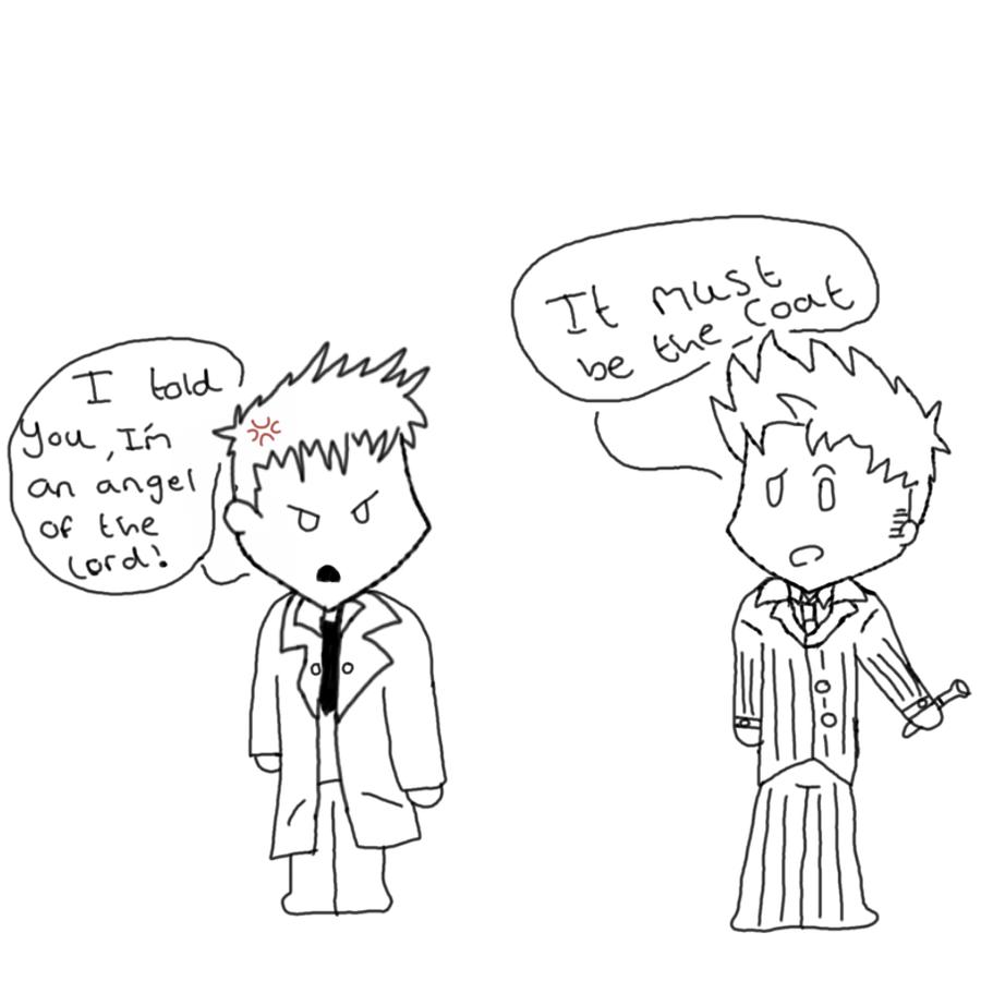 the tenth doctor vs castiel by devantdude on deviantart