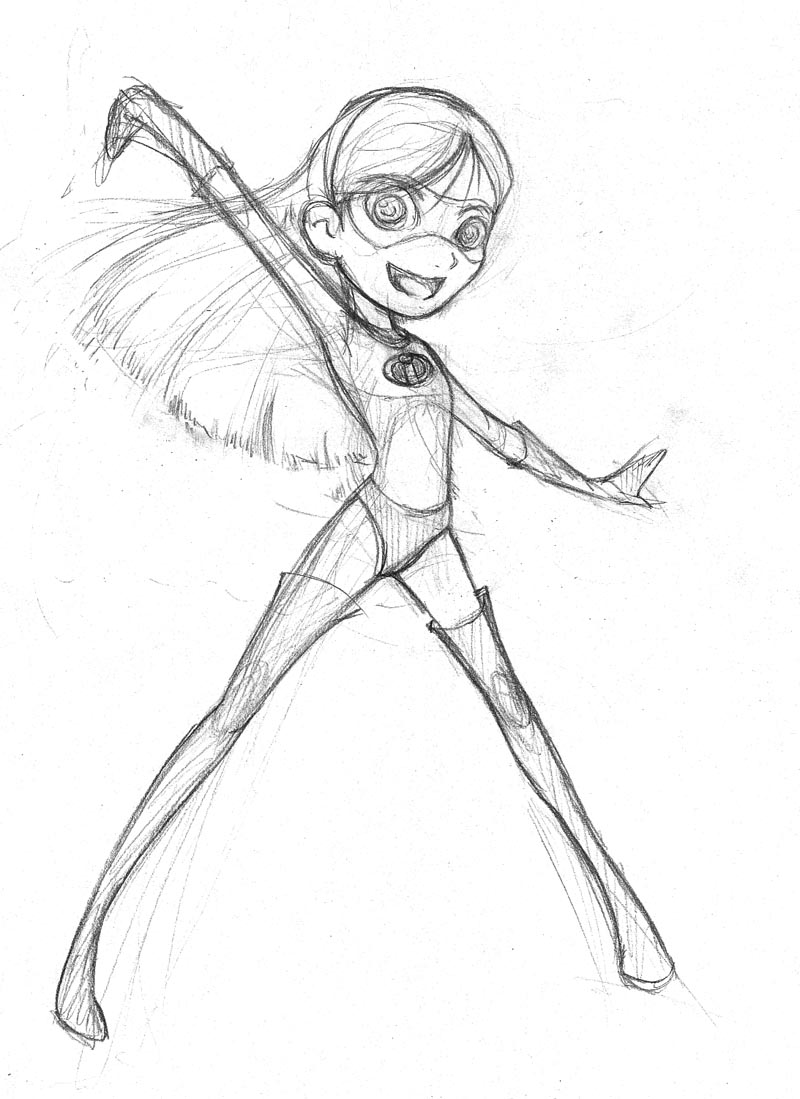 incredibles coloring pages violet - photo#36