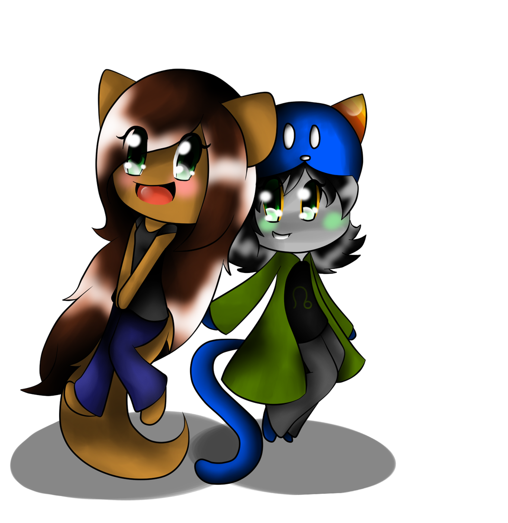 Katy and Nepeta by cutyhtf