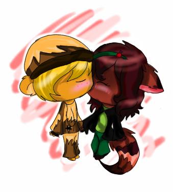 AT.:a little kiss:. by cutyhtf