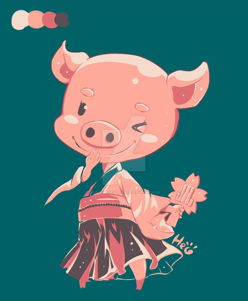 [ REQUEST ] Pig chan ~ by xxxcutedevilxxx