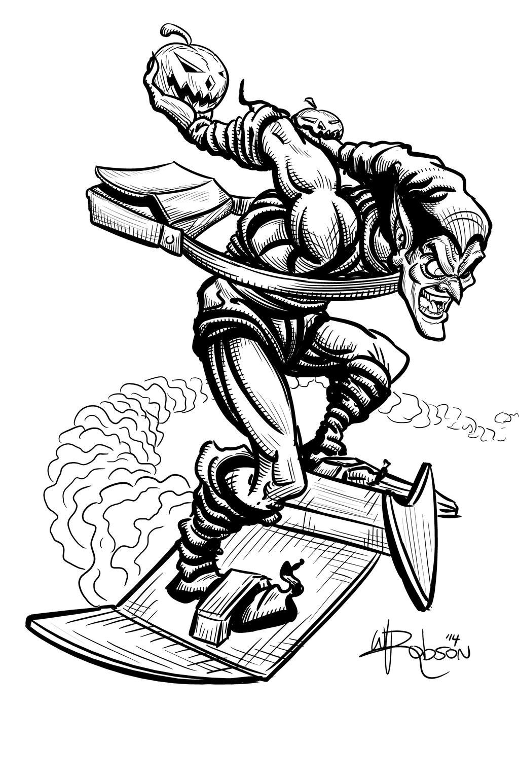 green goblin sketch by robsonink on deviantart