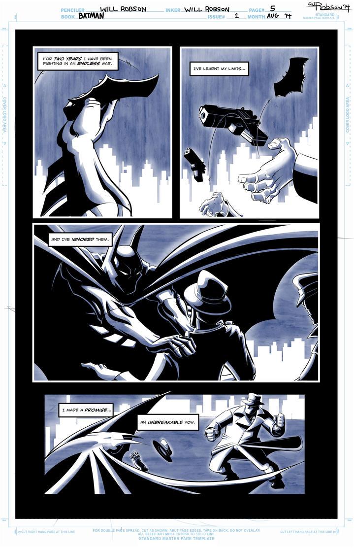 Batman Sample Page 1 by RobsonInk