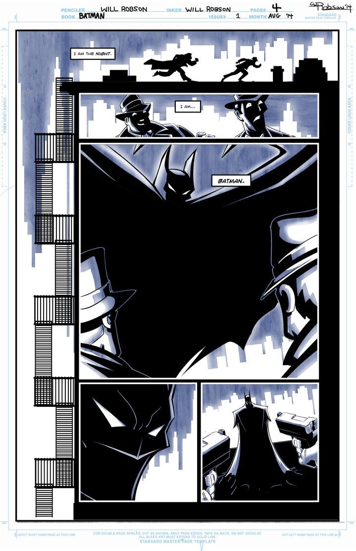 Batman Sample Page 2 by RobsonInk