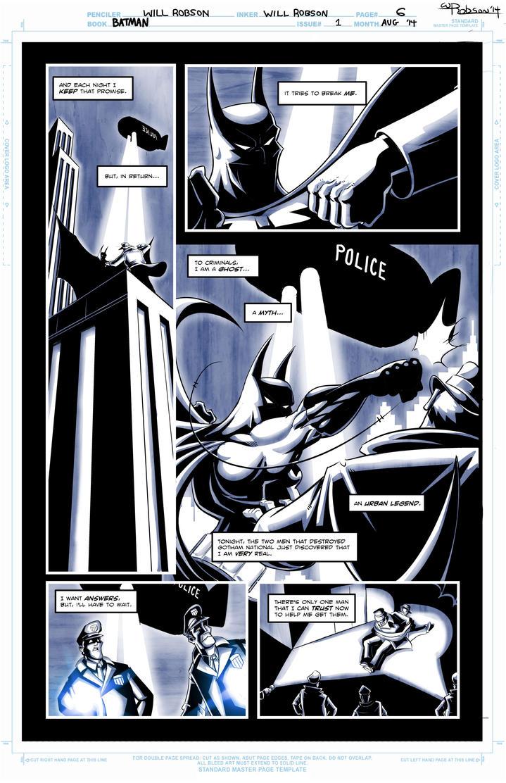 Batman Sample Page 3 by RobsonInk