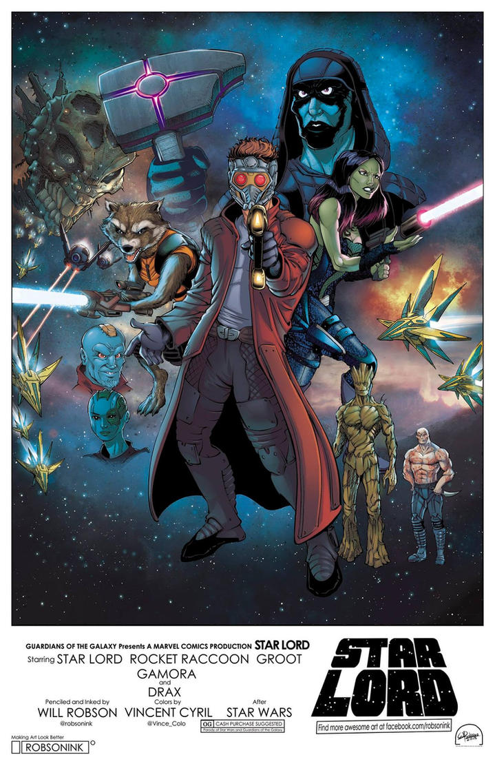 Guardians of the Galaxy meets Star Wars Colors by RobsonInk