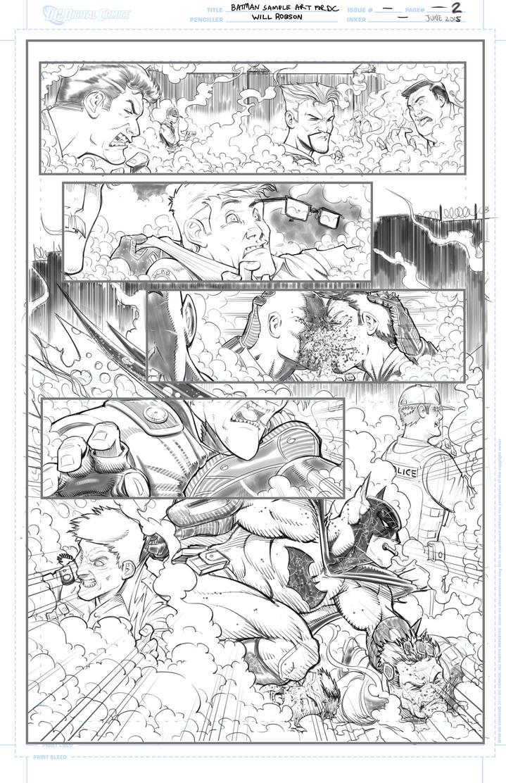 Batman Samples Round 2 Page 2 by RobsonInk