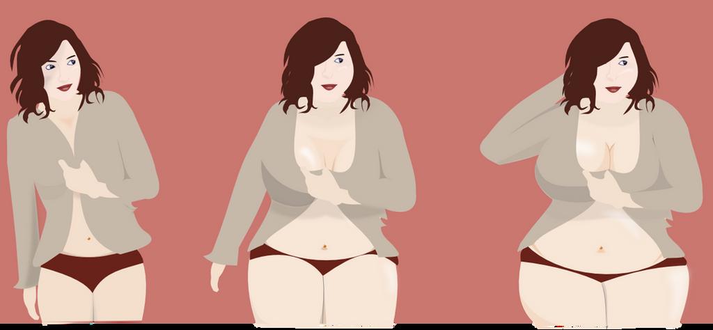 Girl weight gain progression