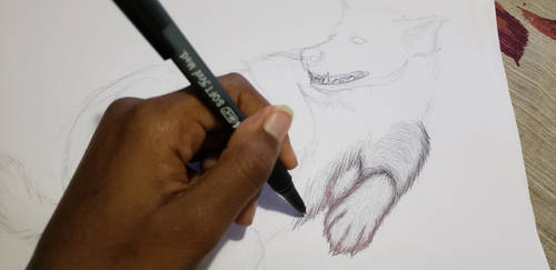 Artist In Action!